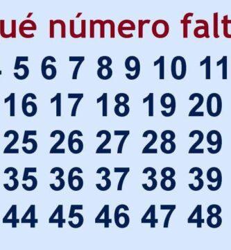 que numero falta